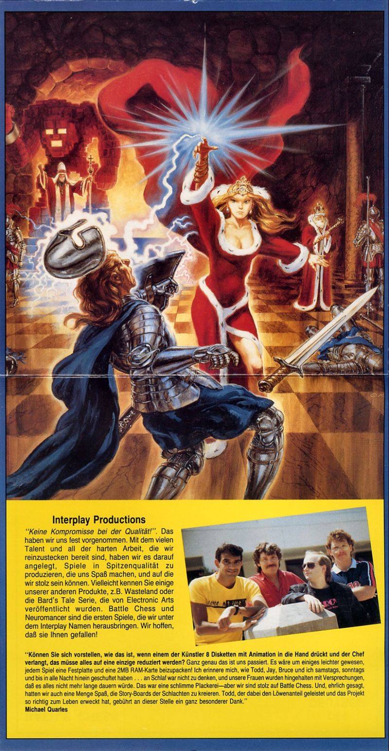 Battle Chess Commodore 64 Inside Cover