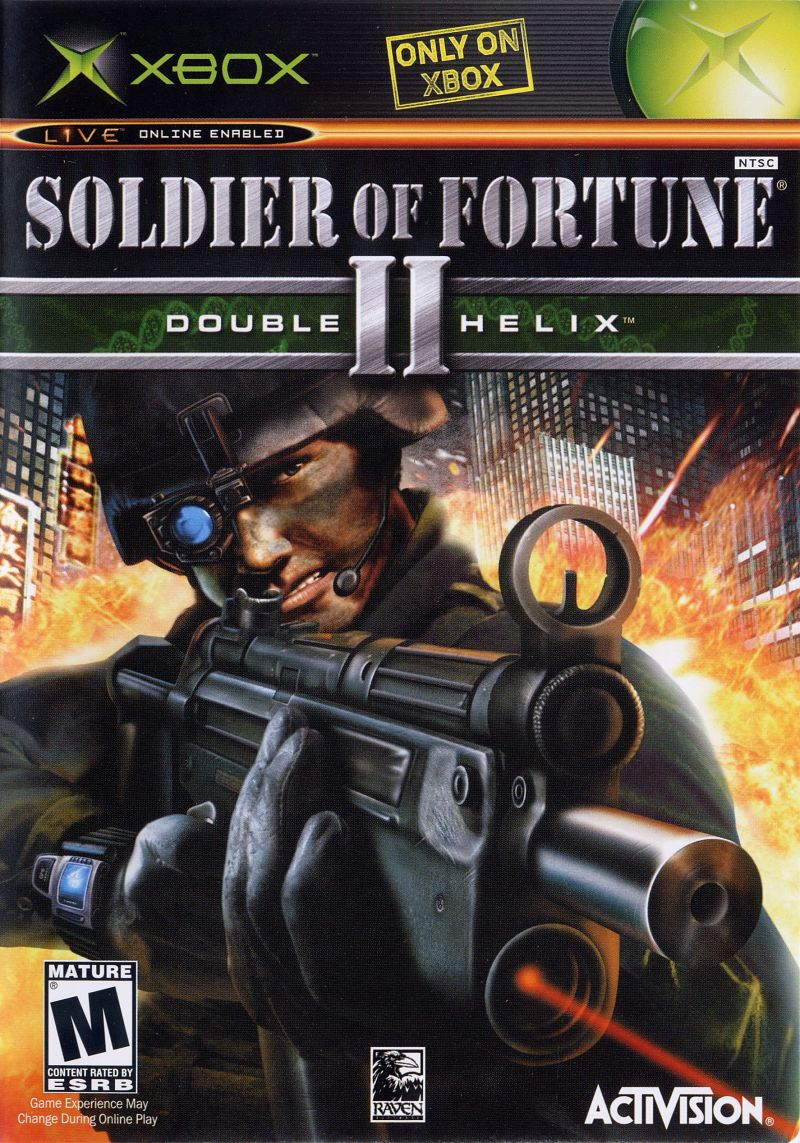 Soldier of Fortune II: Double Helix Xbox Front Cover