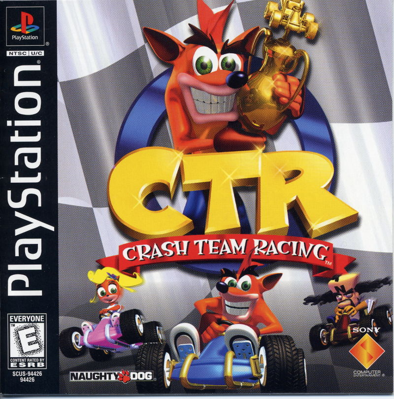 CTR: Crash Team Racing PlayStation Front Cover