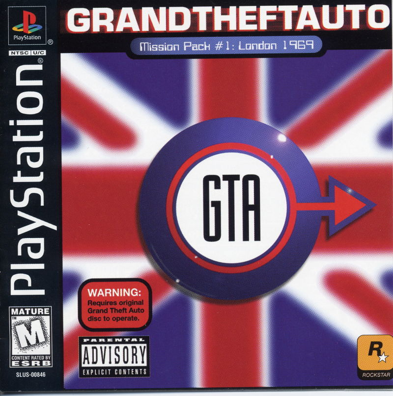 Grand Theft Auto: Mission Pack #1 - London 1969 PlayStation Front Cover