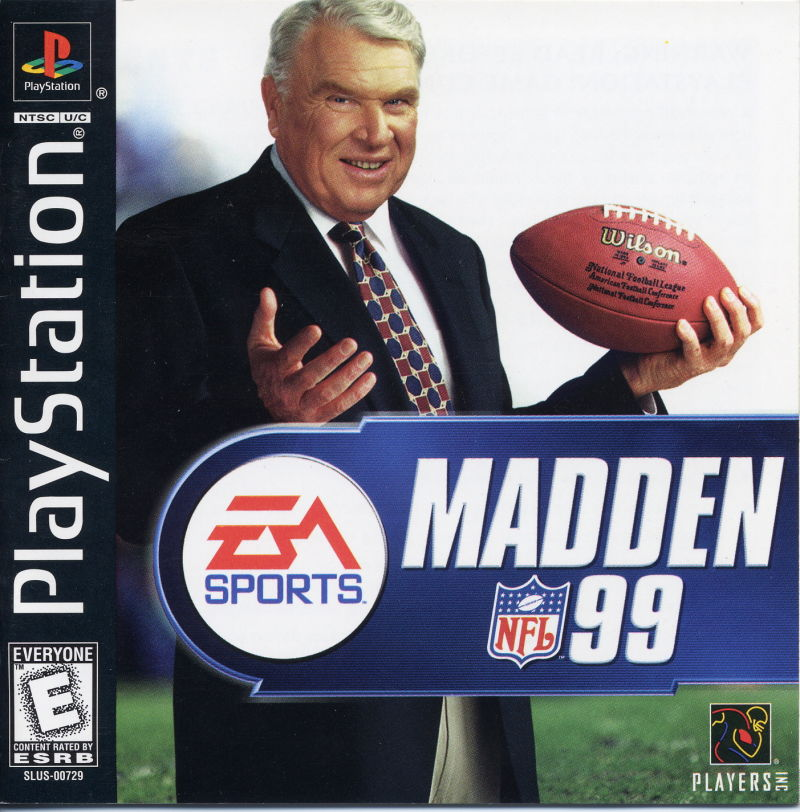 Madden NFL 99 PlayStation Front Cover