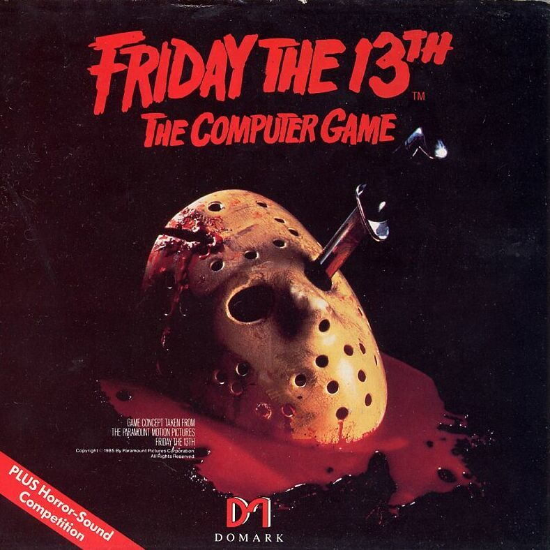 Friday the 13th Commodore 64 Front Cover