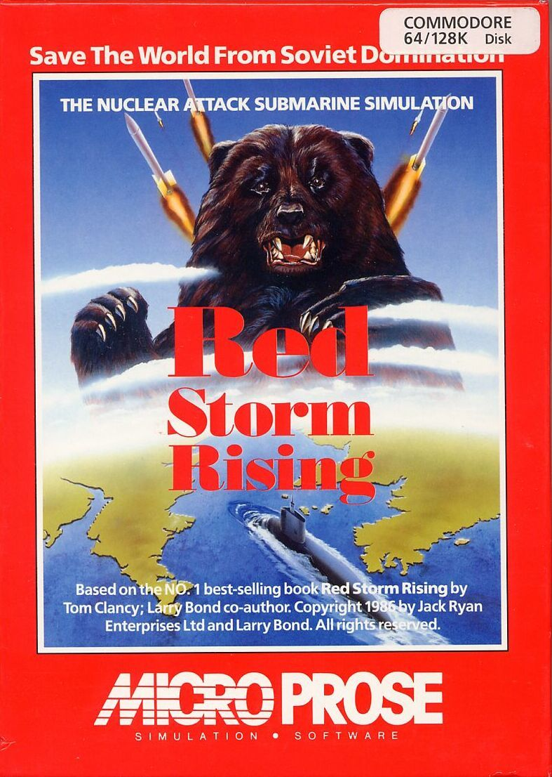 Red Storm Rising Commodore 64 Front Cover