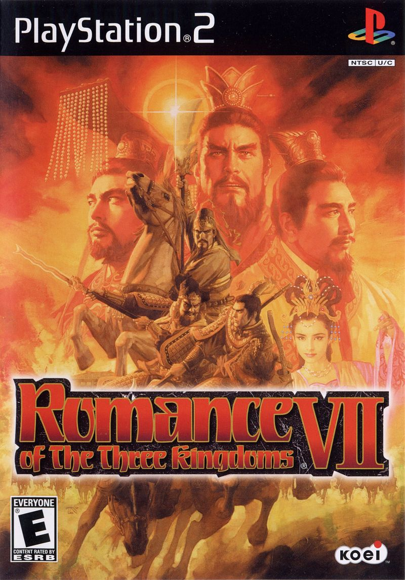 Romance of the Three Kingdoms VII PlayStation 2 Front Cover