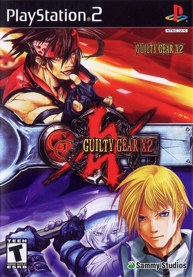 Guilty Gear X2 PlayStation 2 Front Cover