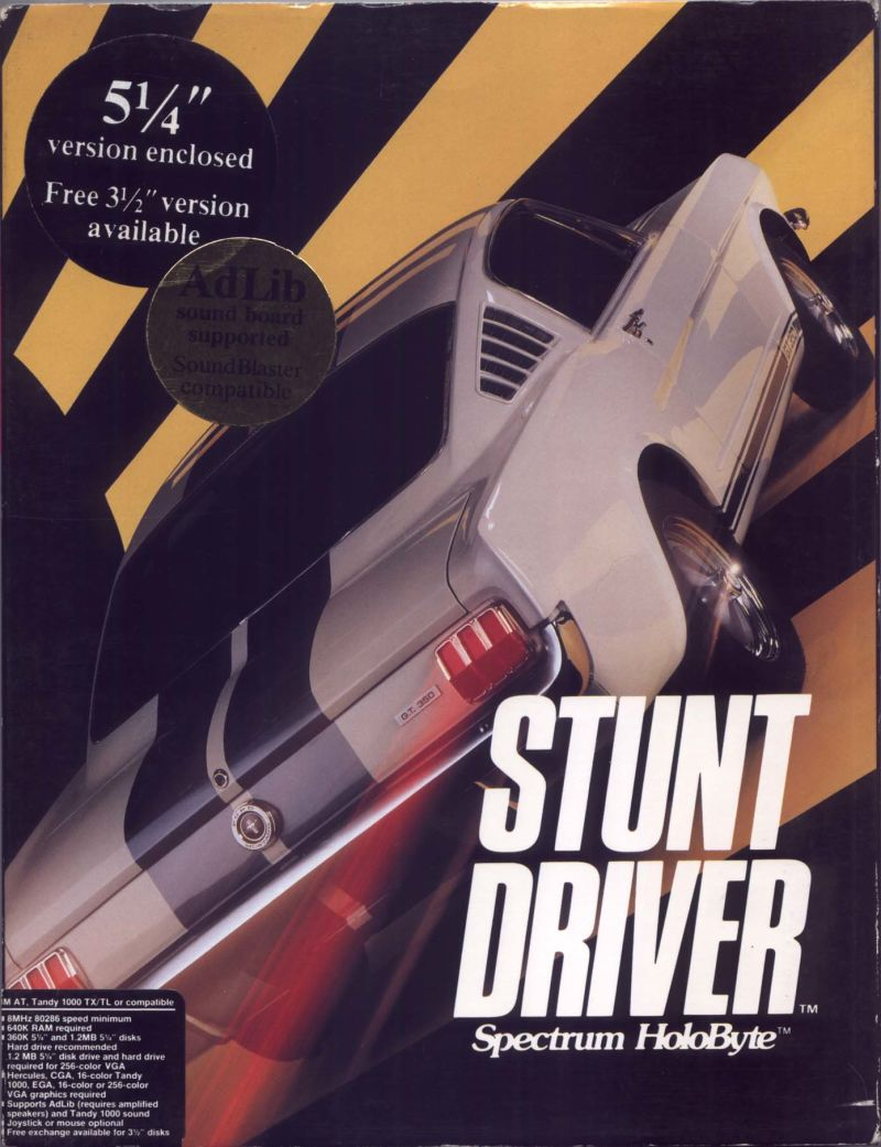 Stunt Driver DOS Front Cover