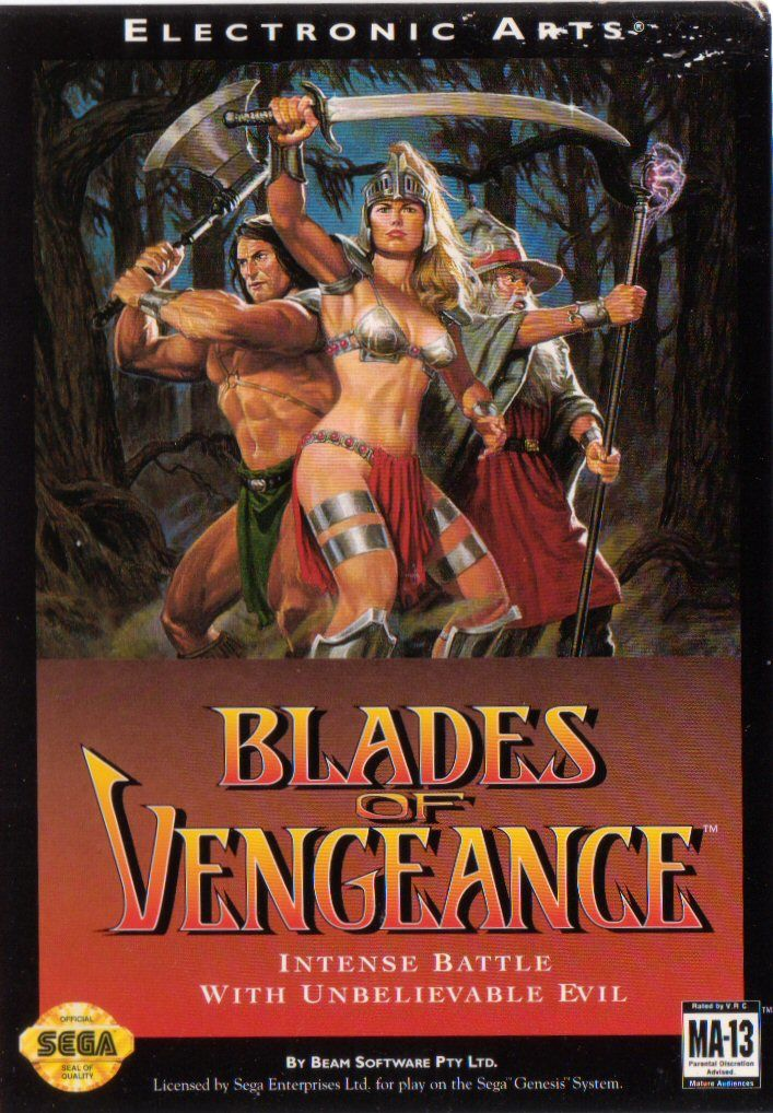 Blades of Vengeance Genesis Front Cover
