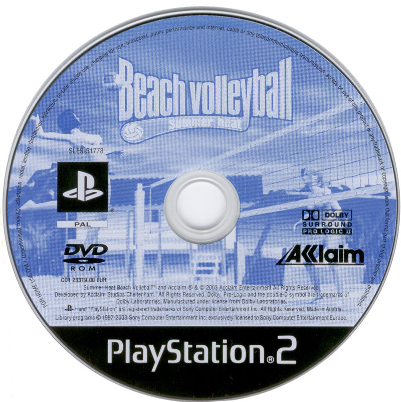Summer Heat Beach Volleyball PlayStation 2 Media