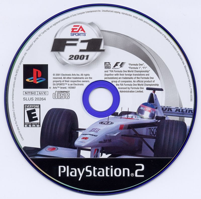 F1 2001 PlayStation 2 Media