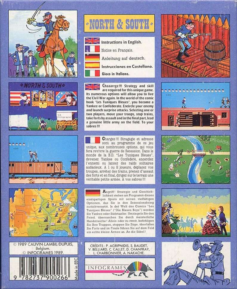 North & South Amiga Back Cover