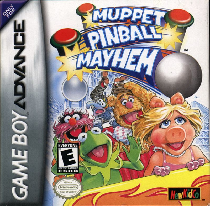 Muppet Pinball Mayhem Game Boy Advance Front Cover