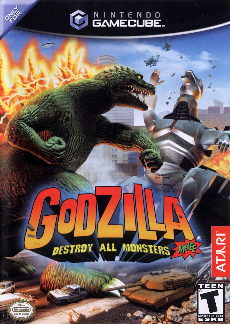 Godzilla: Destroy All Monsters Melee GameCube Front Cover