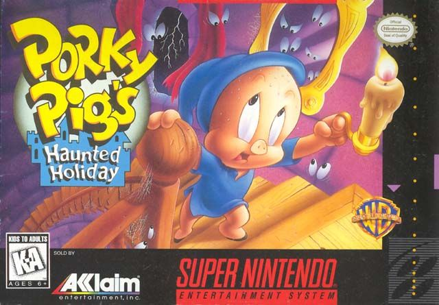 Porky Pig's Haunted Holiday SNES Front Cover