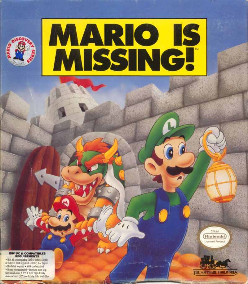 Mario is Missing! DOS Front Cover
