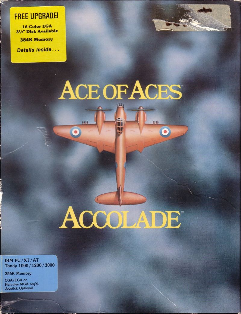 Ace of Aces DOS Front Cover