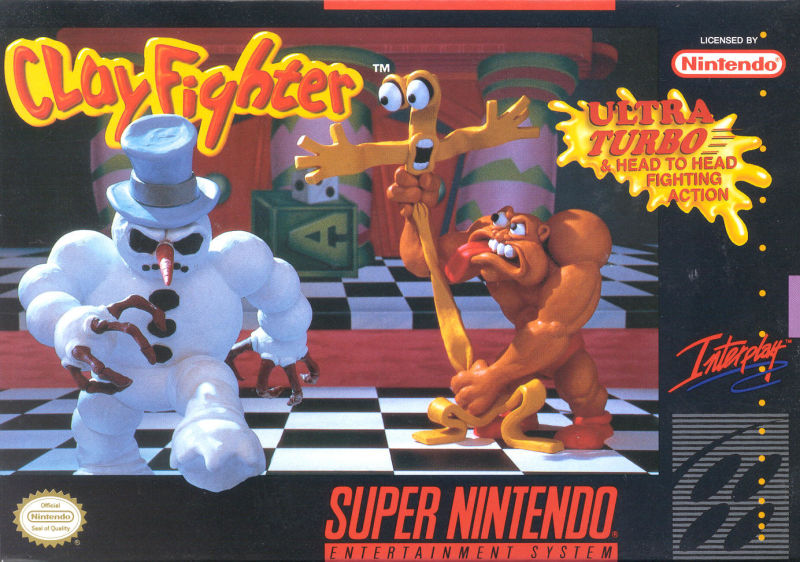 Clay Fighter SNES Front Cover