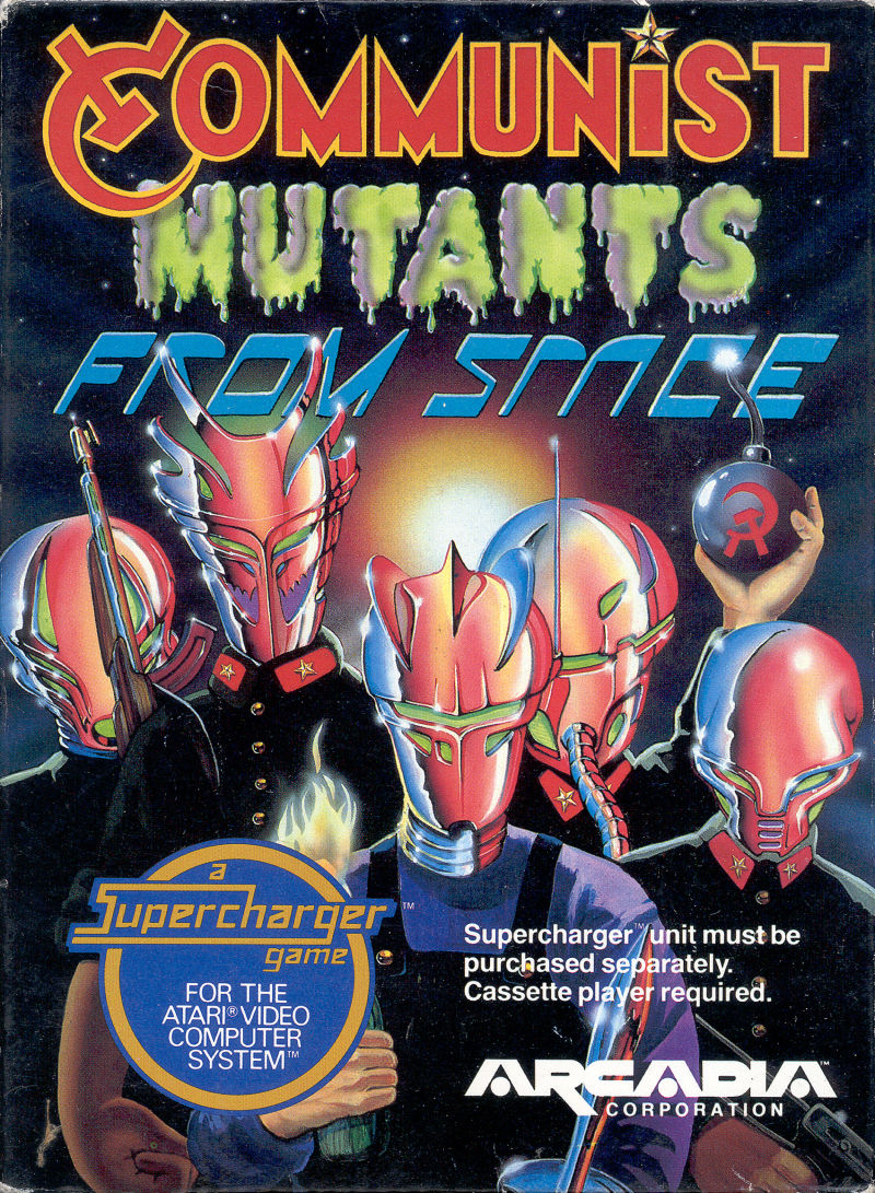 Communist Mutants from Space Atari 2600 Front Cover