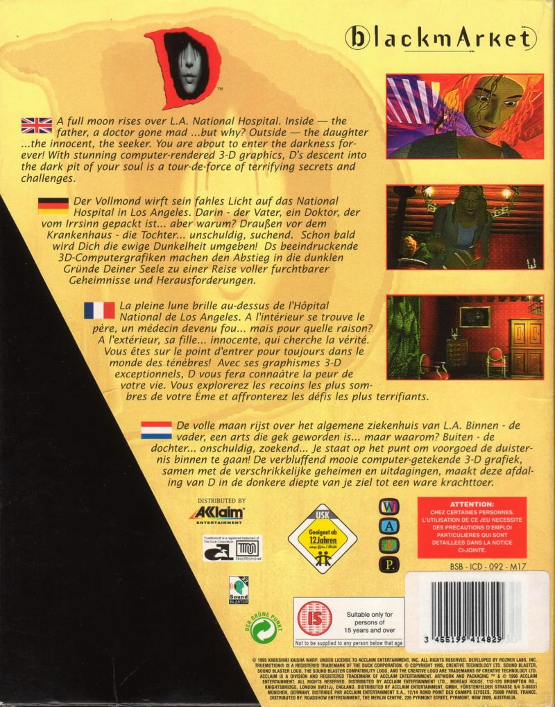 D DOS Back Cover