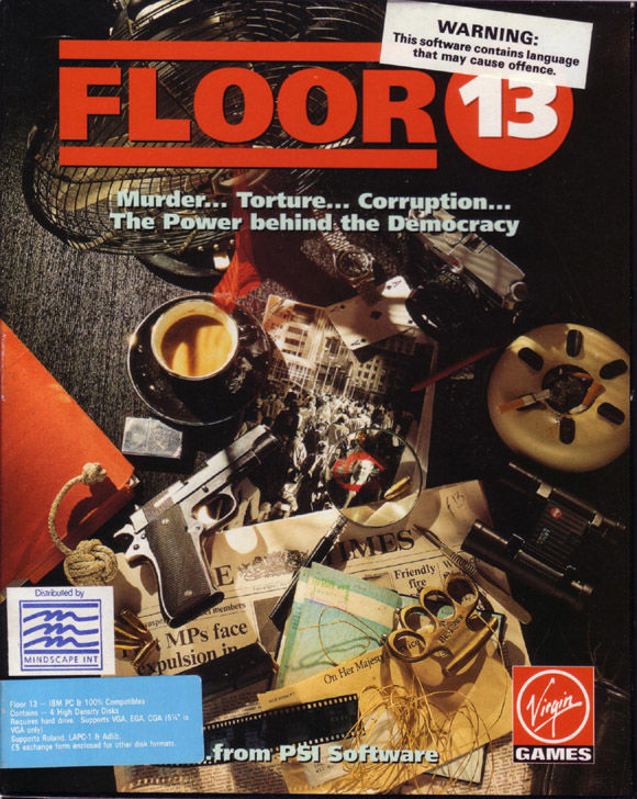 Floor 13 DOS Front Cover