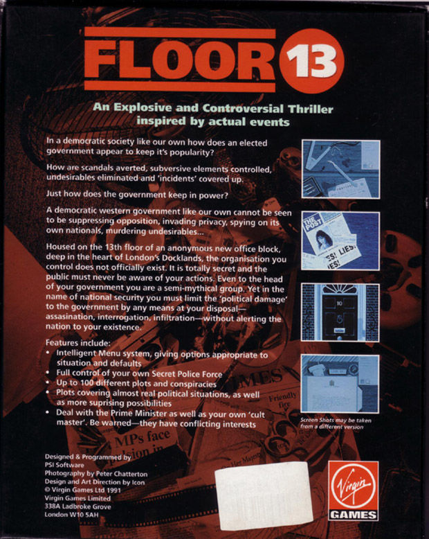 Floor 13 DOS Back Cover