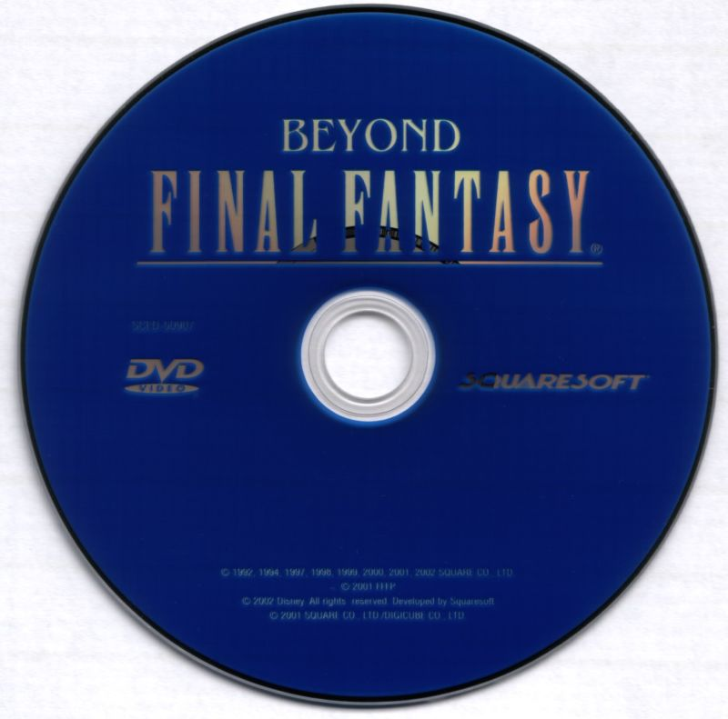 Final Fantasy X PlayStation 2 Media Bonus FMV Disc