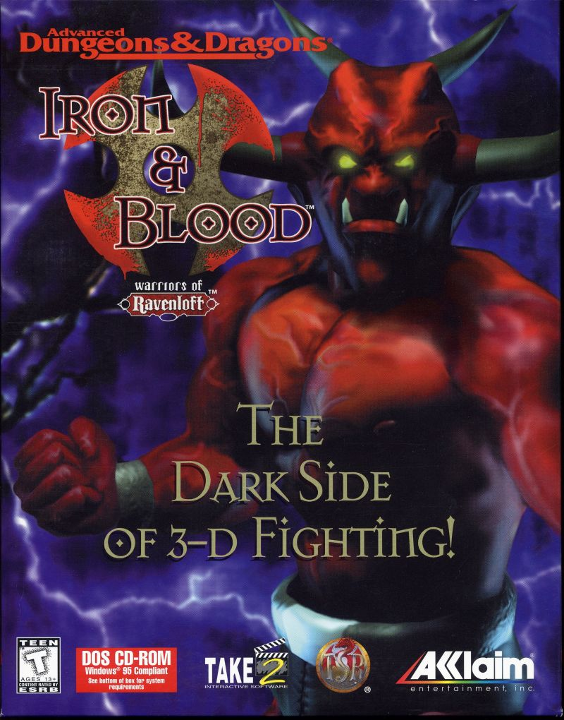 Iron & Blood: Warriors of Ravenloft DOS Front Cover