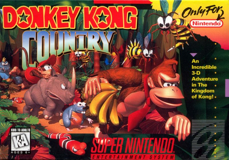 Donkey Kong Country SNES Front Cover