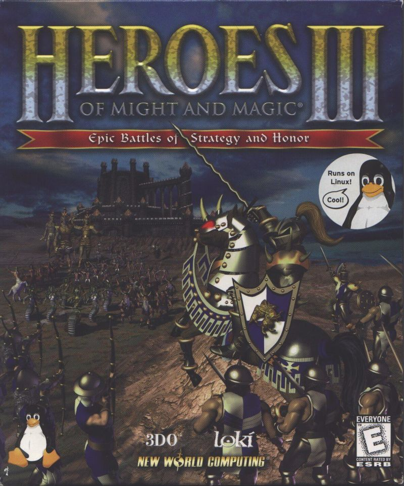 Heroes of Might and Magic III: The Restoration of Erathia Linux Front Cover