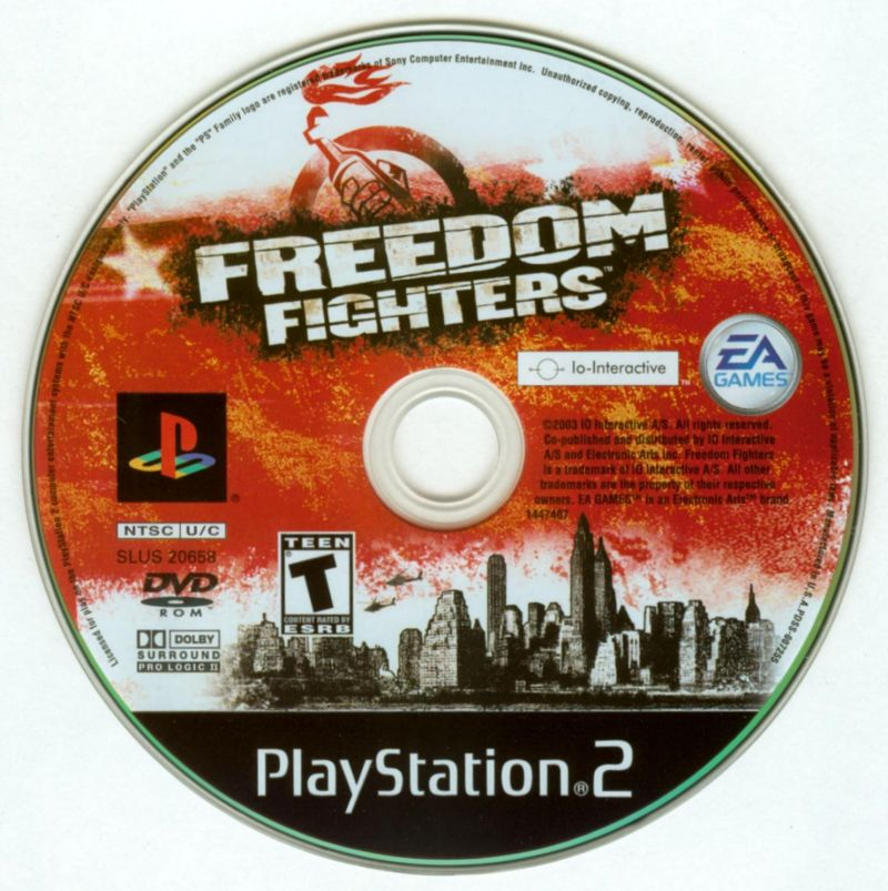 Freedom Fighters PlayStation 2 Media