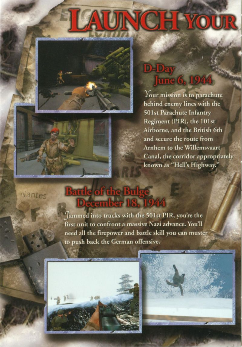 Medal of Honor: Allied Assault - Spearhead Windows Inside Cover Left Flap