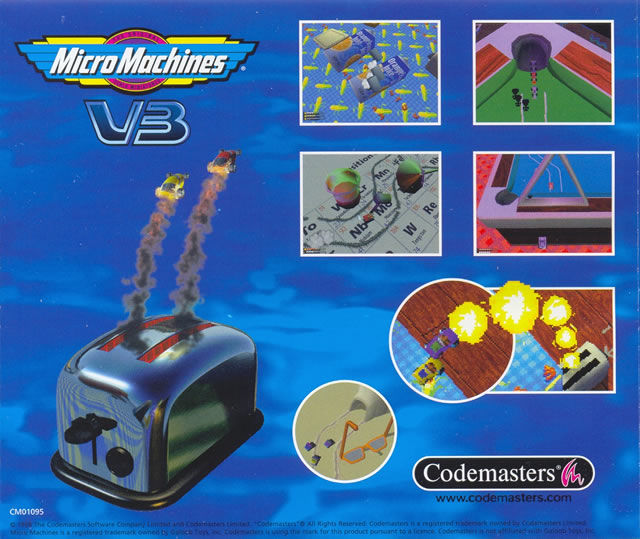 Micro Machines V3 Windows Other Jewel Case - Back