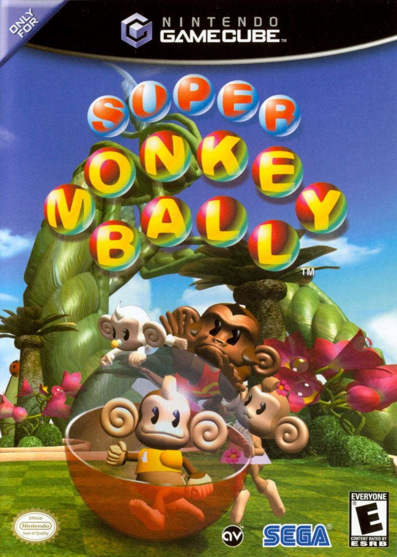 Super Monkey Ball GameCube Front Cover