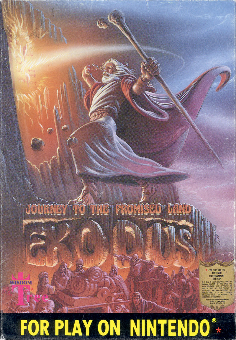 Exodus: Journey to the Promised Land NES Front Cover