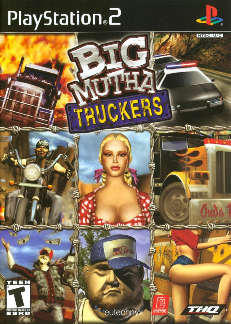 Big Mutha Truckers PlayStation 2 Front Cover