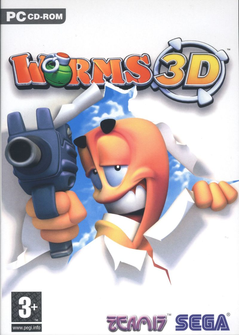 Worms 3D Windows Front Cover