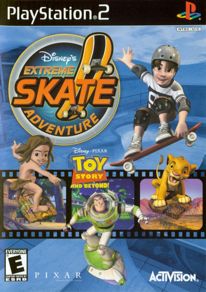Disney's Extreme Skate Adventure PlayStation 2 Front Cover