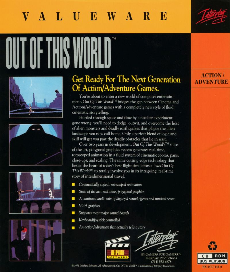 Out of This World DOS Back Cover