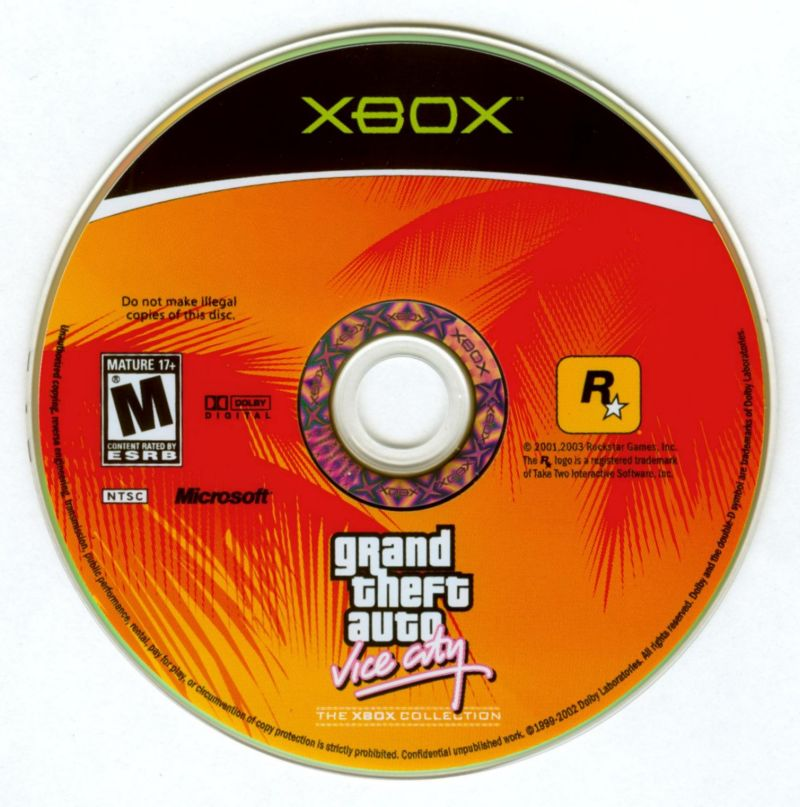 Rockstar Games Double Pack: Grand Theft Auto Xbox Media Grand Theft Auto: Vice City Disc
