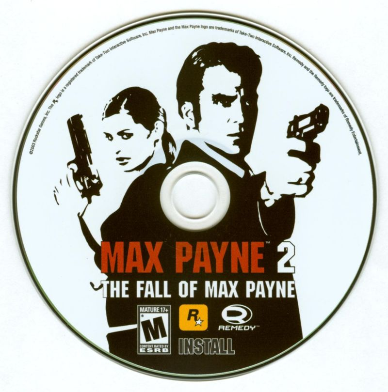 Max Payne 2: The Fall of Max Payne Windows Media Install disc