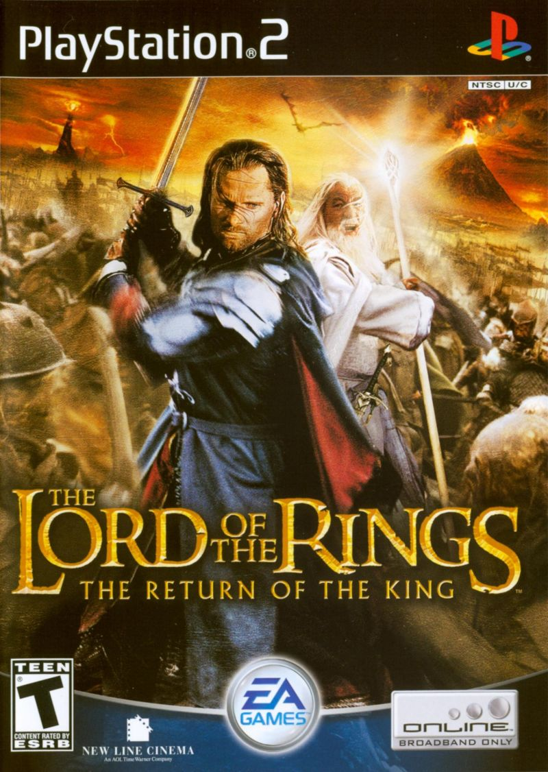 The Lord of the Rings: The Return of the King PlayStation 2 Front Cover