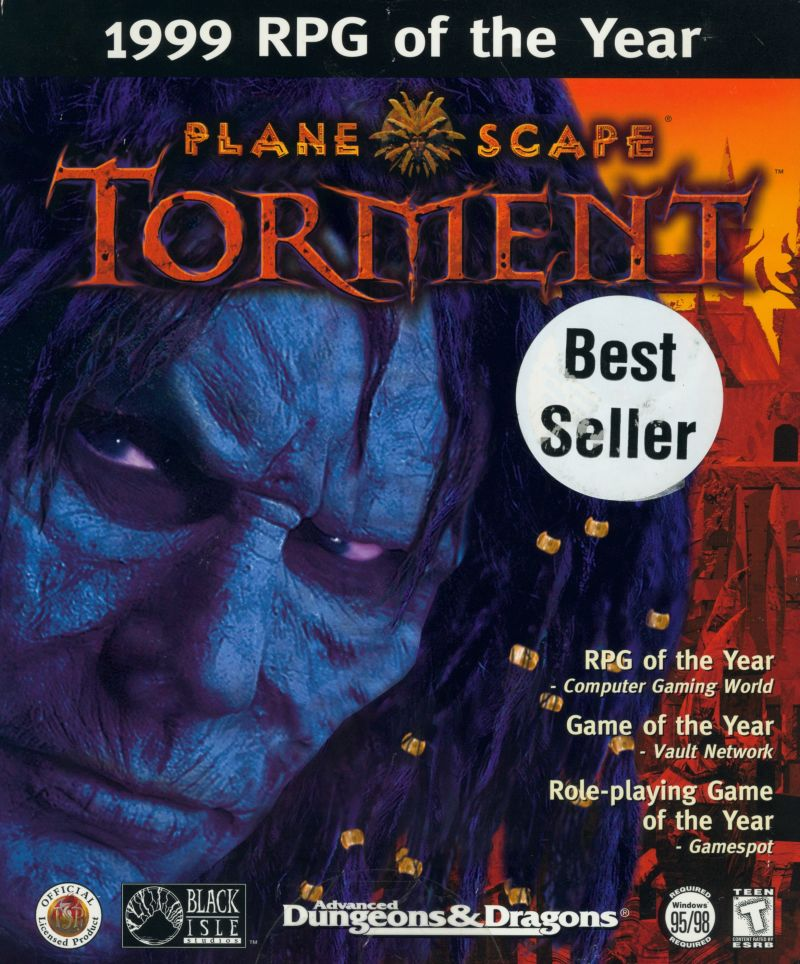 Planescape: Torment Windows Front Cover