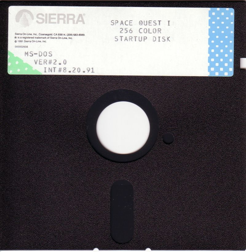 Space Quest I: Roger Wilco in the Sarien Encounter DOS Media Disk 1/5