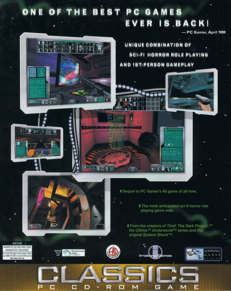 System Shock 2 Windows Back Cover