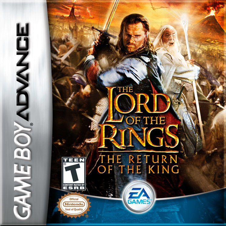 The Lord of the Rings: The Return of the King Game Boy Advance Front Cover