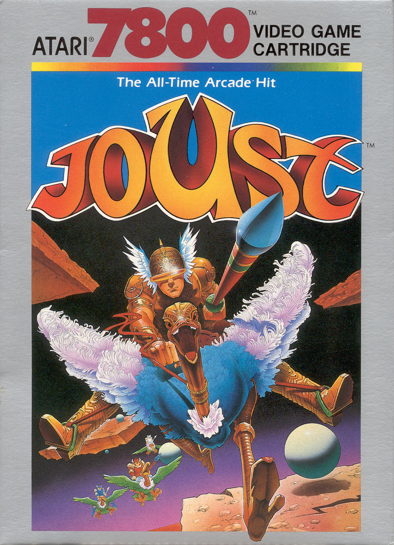 Joust Atari 7800 Front Cover