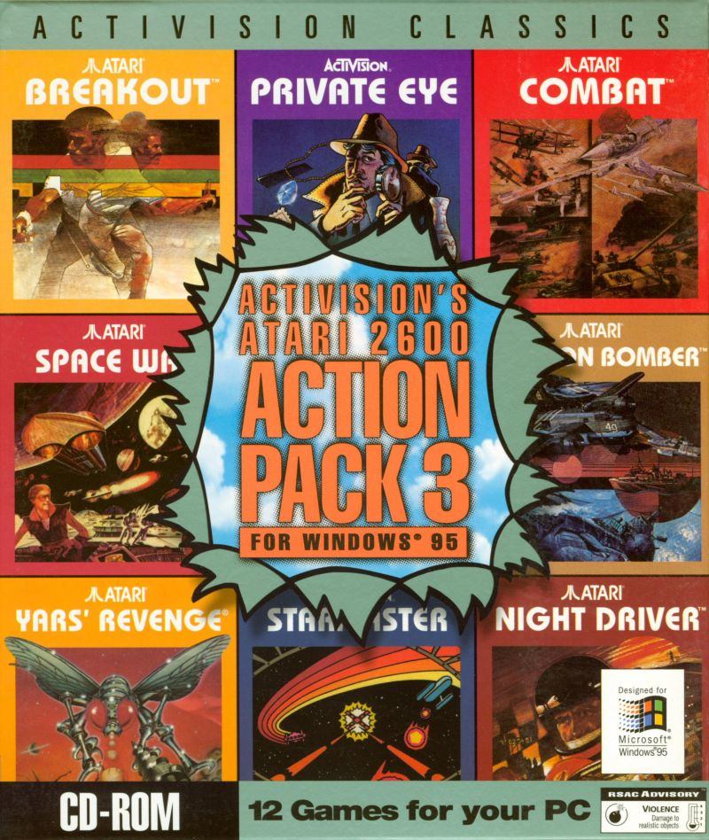 Activision's Atari 2600 Action Pack 3 Windows Front Cover