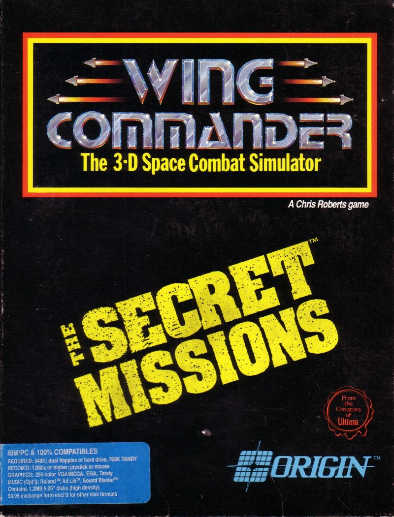 Wing Commander: The Secret Missions DOS Front Cover