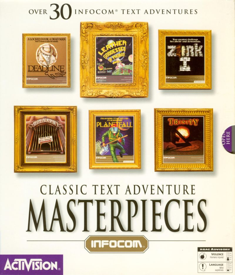 Classic Text Adventure Masterpieces DOS Front Cover