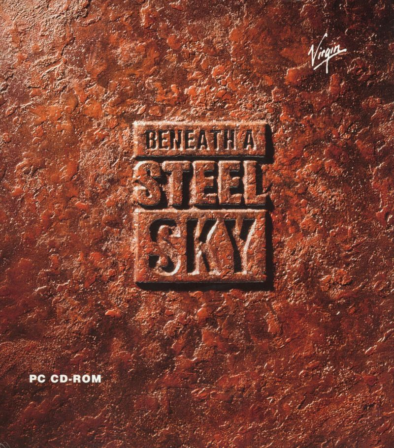Beneath a Steel Sky DOS Front Cover w/o slip