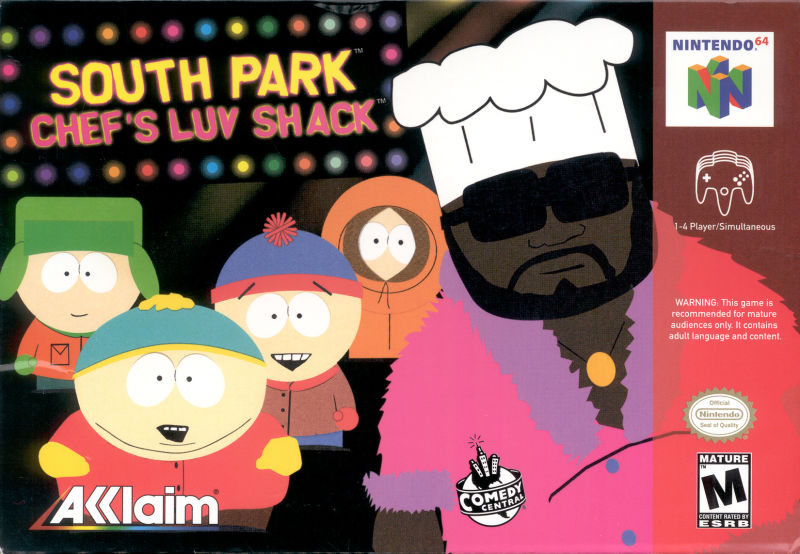 South Park: Chef's Luv Shack Nintendo 64 Front Cover